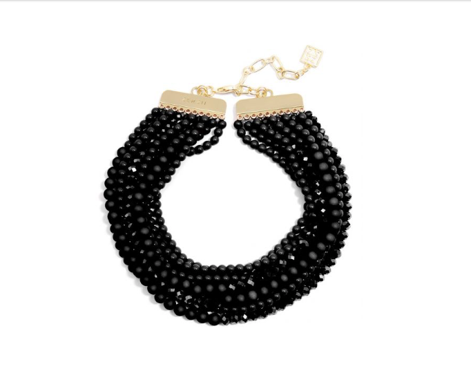 Metallic Bead Necklace