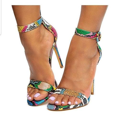 Multi-Snake Skin Sandal