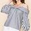 Thumbnail: Pinstripe Off Shoulder Blouse