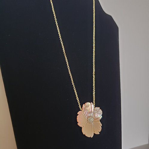 Posey Necklace - Pedal Pink