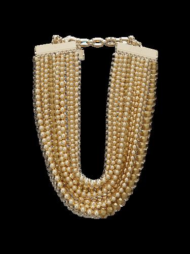 Metallic Bead Necklace Choker