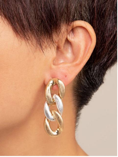 Matte Chain Earrings