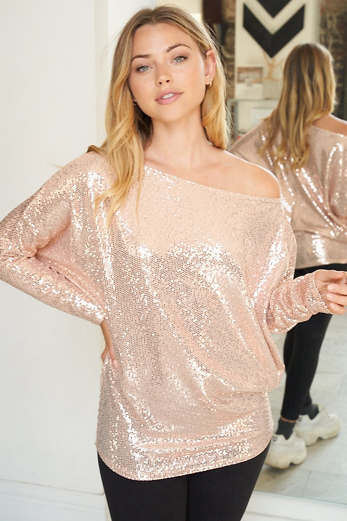 So Cold -Sequin Top