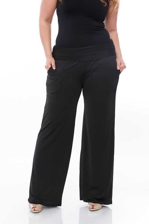 Pocket Wide-Leg Pants