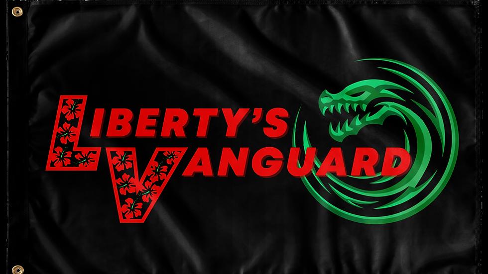 Liberty's Vanguard Single Sided Wall Flag