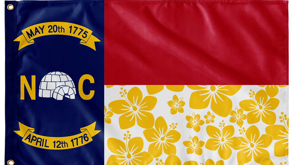 North Carolina Double Sided Flags