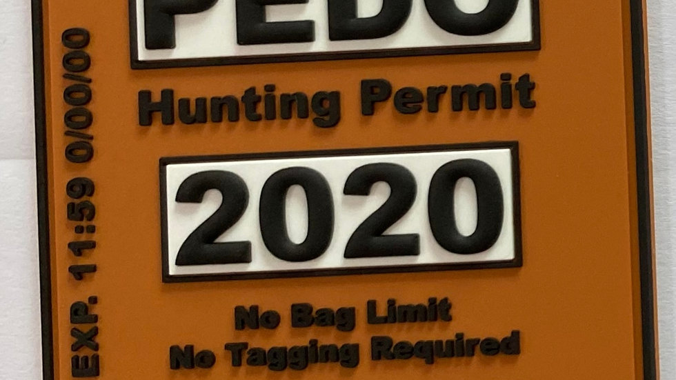 Hunting Permit PVC Patch