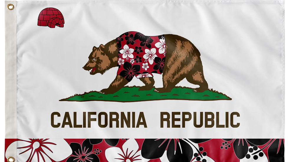 California Double Sided Flags