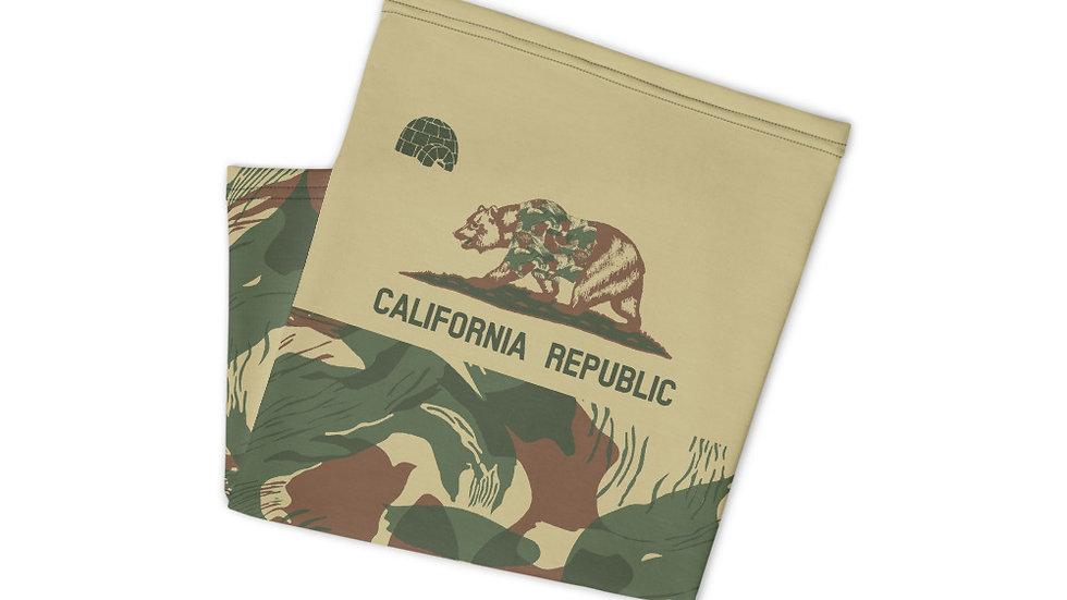 California Rhodesian Brushstroke Neck Gaiter