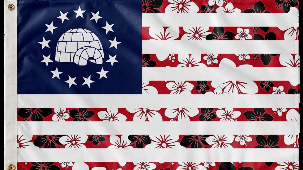Luau Betsy Flag