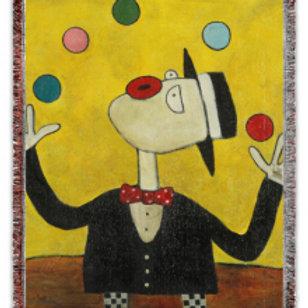 """The Juggler"" 50x60 Woven Blanket"