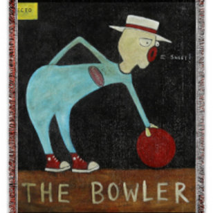 """""""The Bowler"""" 50x60 Woven Blanket"""