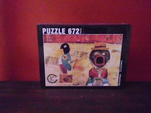 """Escuchar"", 672 piece Jigsaw Puzzle"