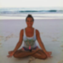 Meditating & Yoga, Pink Sand Beach, Harbour Island, Bahamas