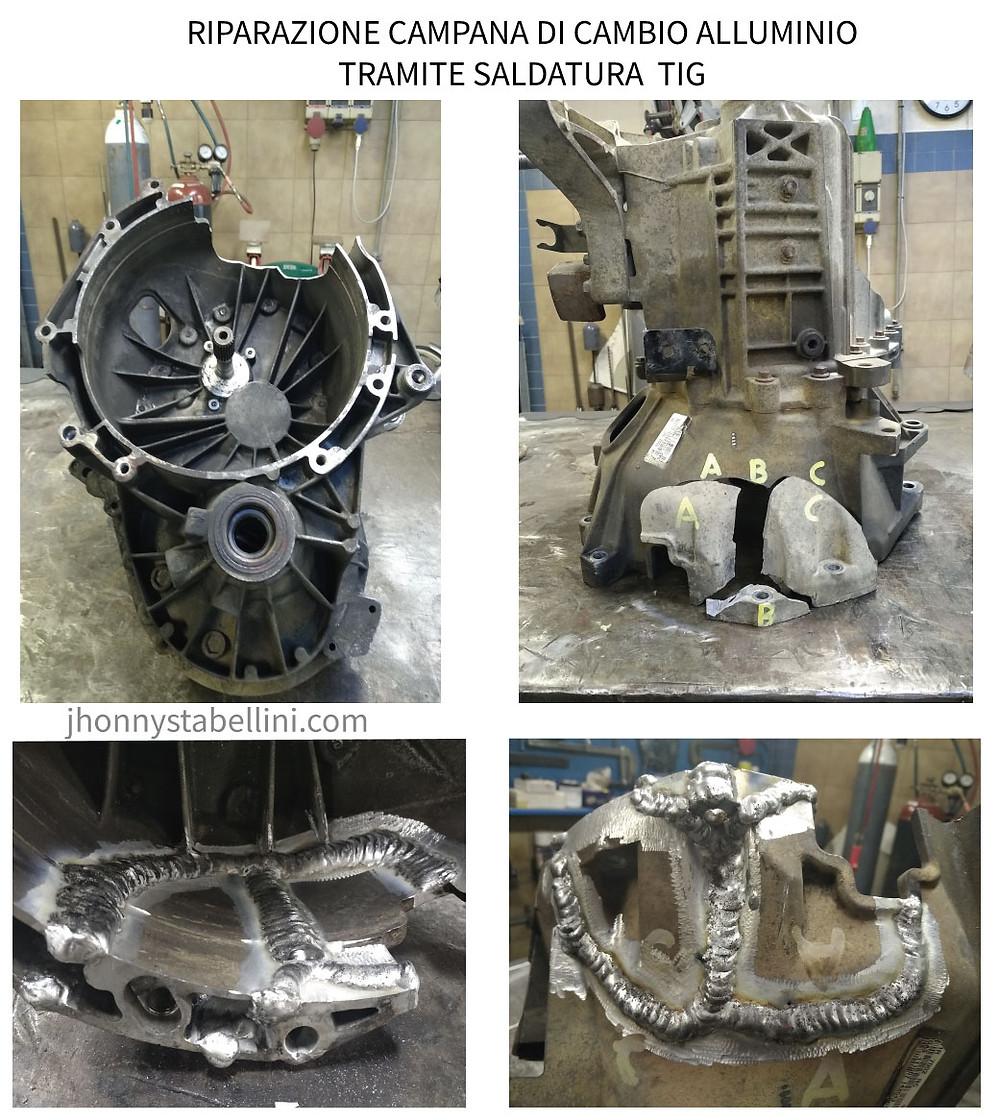riparazione campana di cambio alluminio