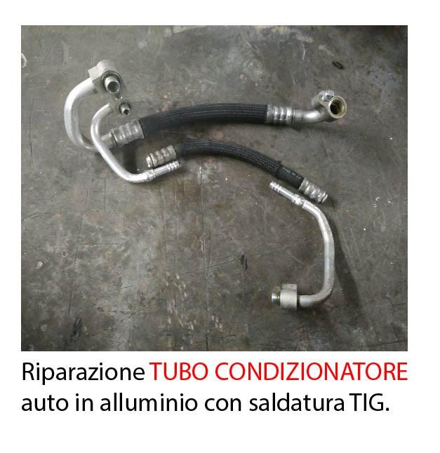 Riparazione tubo condizionatore d'aria per auto in alluminio