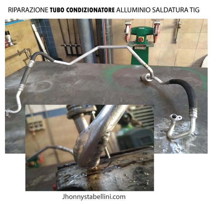 RIPARAZIONE TUBO CONDIZIONATORE ALLUMINIO SALDATURA TIG