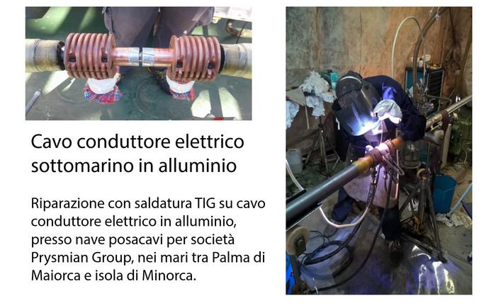 Cavo conduttore elettrico sottomarino in alluminio