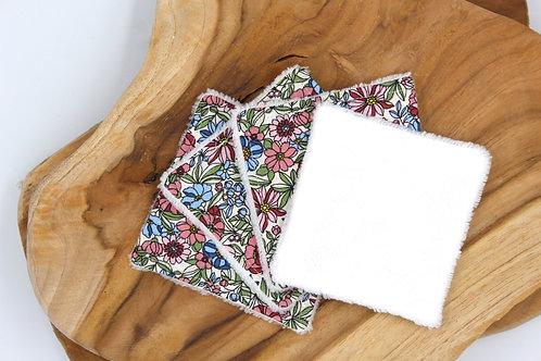 Coton lavable bambou fleurs 70's