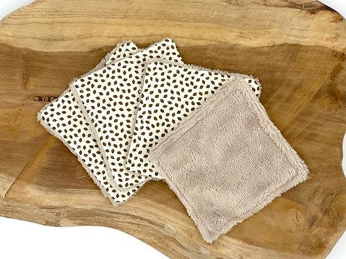 Coton lavable bambou motif feuilles