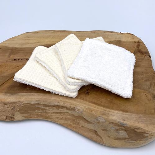 Coton lavable nid d'abeille crème