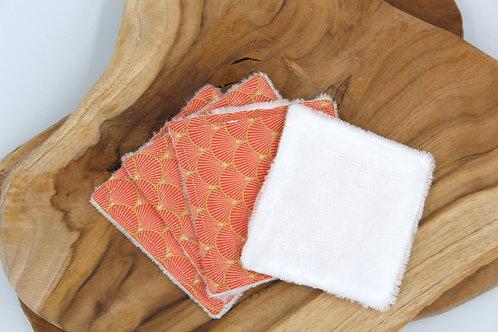 Coton lavable bambou japonais rose