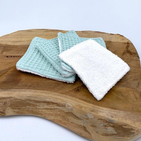 Coton lavable nid d'abeille pastel