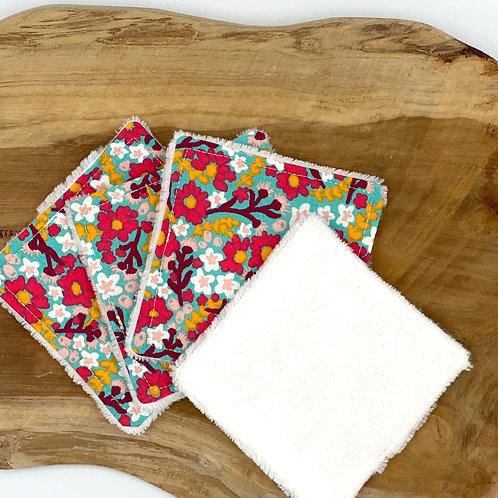 Coton lavable bambou fleuri vintage