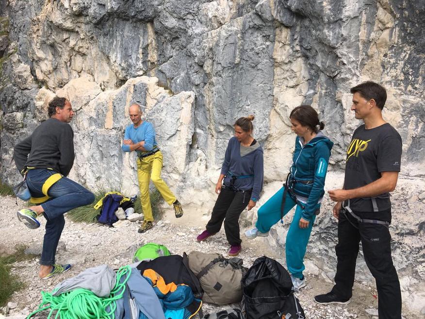 Kletter Einführungskurs Dreischusterhütte