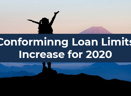 Breaking News: Confirming Loan Limits Increase for 2020