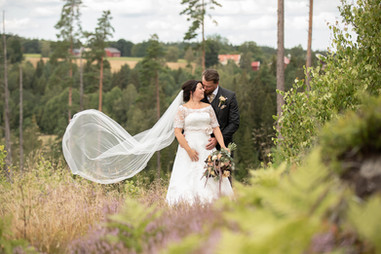 Bröllopsfotografering lantligt bröllop