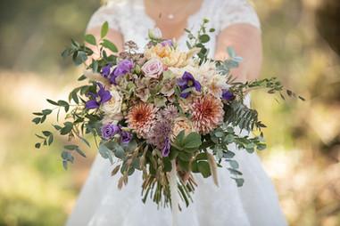 Bröllopsfotografering brudbukett