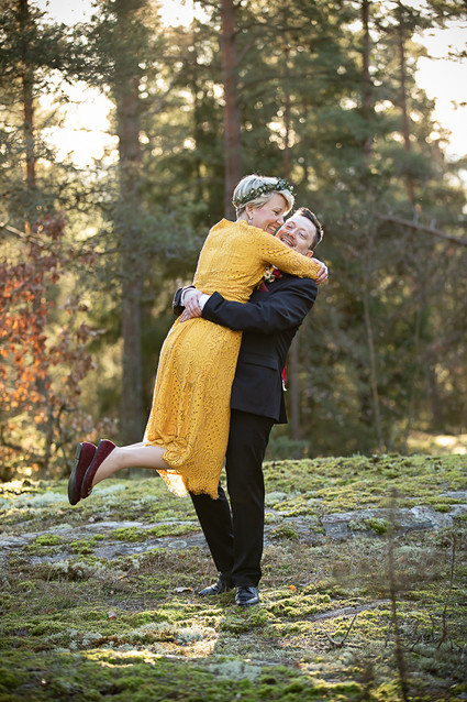 Bröllopsfotograf vinterbröllop