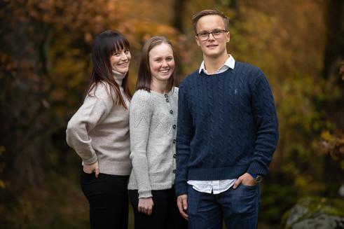 Familjefotografering höst