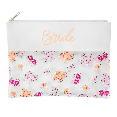 Bride Floral Cosmetic Bag