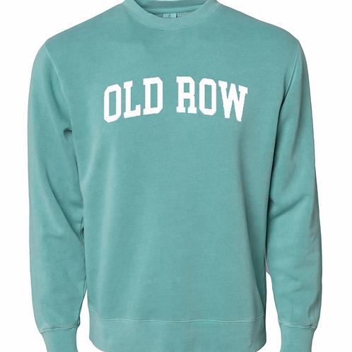 Turquoise Old Row Crewneck
