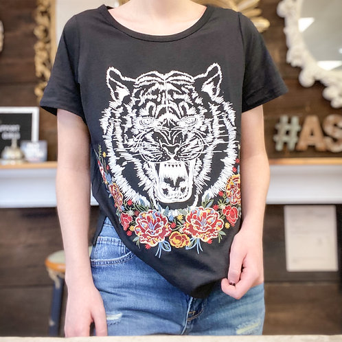 embroidered Tiger Tee