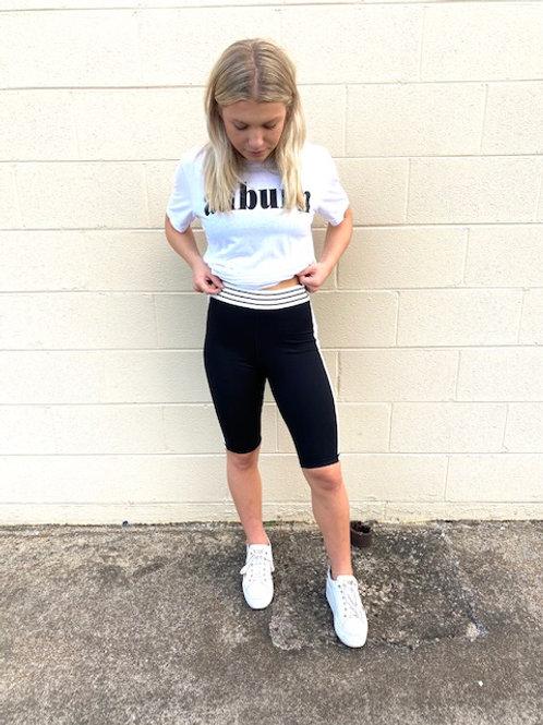 Black & white Biker Shorts