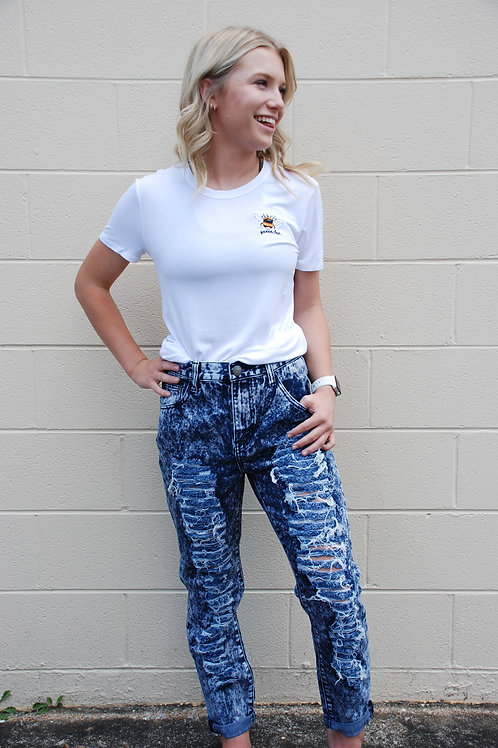 Disco Ready Ripped Jeans