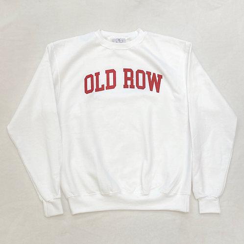 Old Row White crewneck