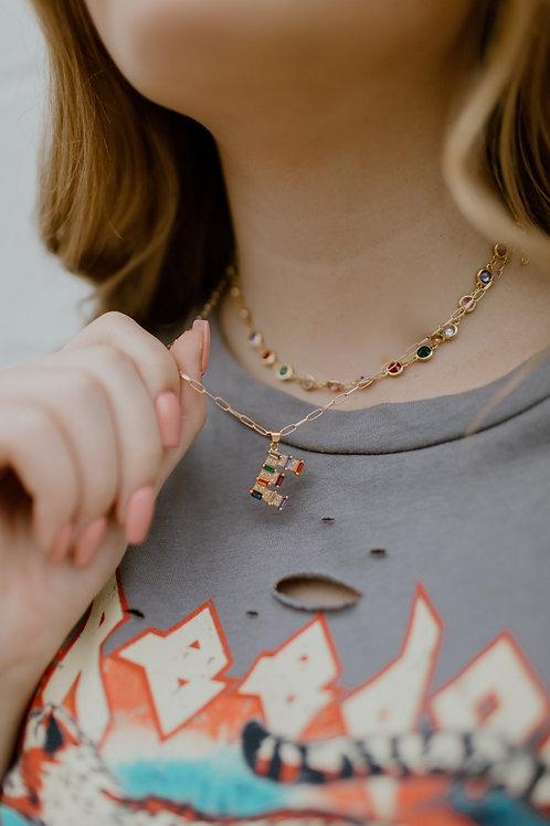 Confetti Initial Necklace