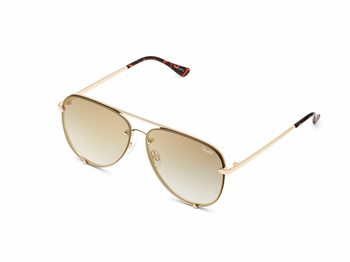 Quay High Key Rimless Golden Sunnies