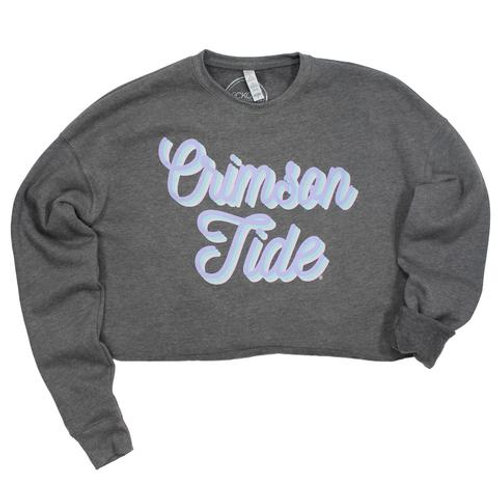 Crimson Tide Crop Sweater