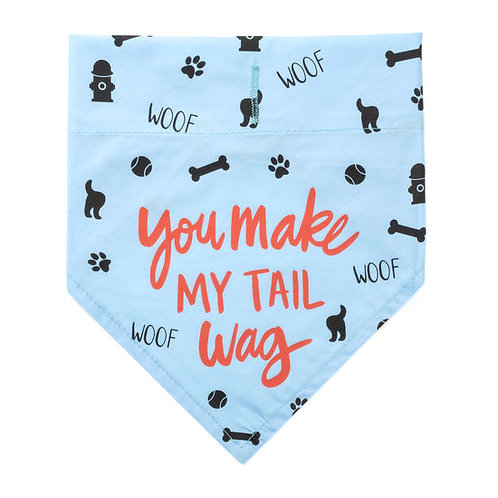 You make my Tail Wag Doggie Bandana L/XL