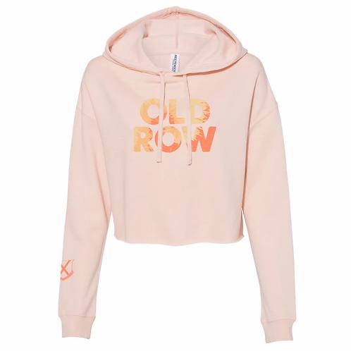 Old Row Tye Dye Cropped hoodie