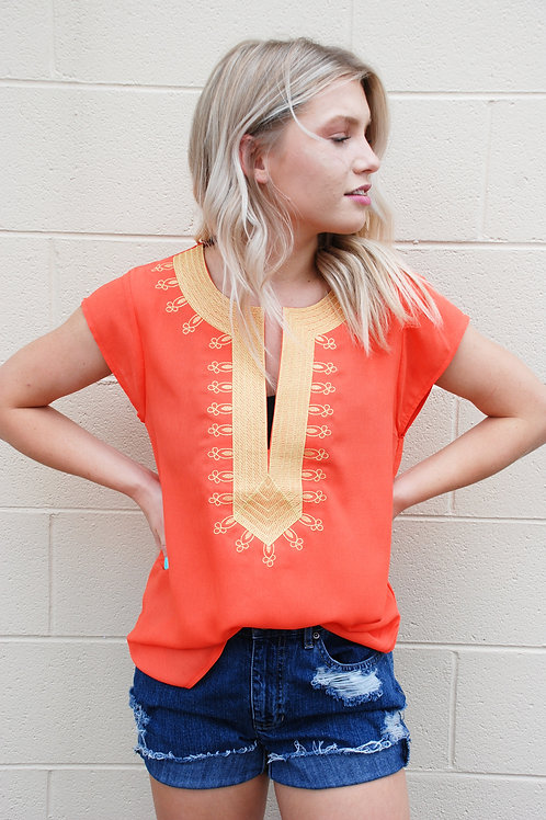 Lila Statement Top