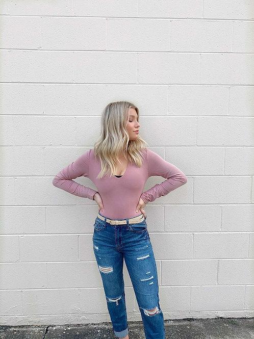 Mauve Pink bodysuit