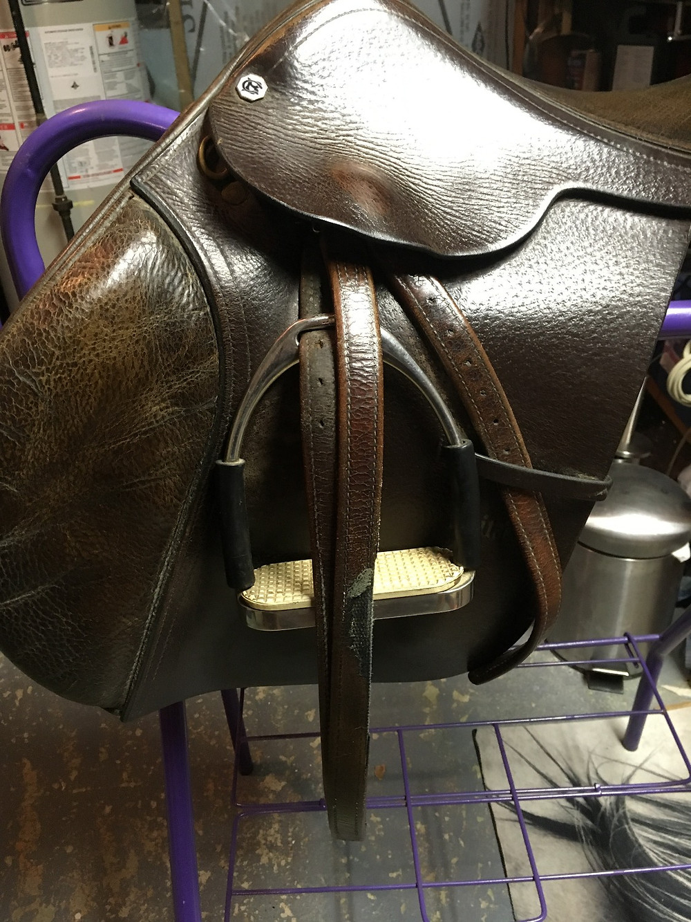 Wow! Those are some rough-looking stirrup leathers