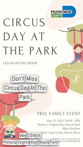 Miami nonprofit Circus school Brings Free Family Circus Day to Virginia Key Park