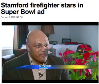 Retired Firefighter Stars in Super Bowl Ad